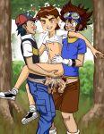 ash_ketchum ben_10 ben_tennyson crossover digimon gay pokemon ragathol tai_kamiya