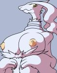 anthro big_breasts breasts female flygon_(artist) legendary_pokemon nintendo nipples nude pokemon pokemorph reshiram solo sya video_games