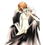 2boys aizen_sousuke bleach ichimaru_gin lowres masturbation multiple_boys reach-around sosuke_aizen yaoi