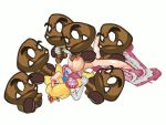 animated female gif goomba nintendo playshapes princess_peach super_mario_bros.