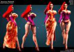 breasts corset disney jessica_rabbit legs tagme who_framed_roger_rabbit