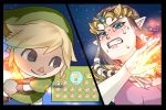 1_boy 1_girl 1boy 1girl angry battle black_eyes blonde_hair blue_eyes blush brown_hair clenched_teeth doubutsu_no_mori fight fighting hat headpiece link link_(cosplay) lips long_hair nintendo not_porn pointy_ears princess_zelda short_hair smile super_smash_bros. tears teeth the_legend_of_zelda the_legend_of_zelda:_twilight_princess tiara twilight_princess villager_(doubutsu_no_mori) wasabi_(legemd)