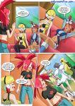 6girls asuna_(pokemon) carnet_(pokemon) clothed comic cynthia diantha elesa females flannery fuuro_(pokemon) kamitsure_(pokemon) korrina koruni_(pokemon) multiple_girls pokemon pokepornlive shirona_(pokemon) skyla tagme truth_or_dare