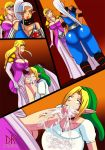 ahegao ass big_ass big_breasts big_penis big_testicles breasts cleavage comic cum cum_in_mouth cum_inside cum_on_face cum_on_penis dat_ass dkstudios05 fellatio female femboy futanari girly impa inflation link male oral penis princess_zelda stomach_inflation testicles the_legend_of_zelda trap