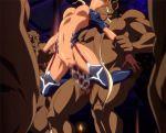 animated dark_skin drooling elf gif kuroinu_kedakaki_seijo_wa_hakudaku_ni_somaru ogre rape saliva stomach_bulge tagme tongue vaginal