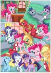 applejack comic cum friendship_is_magic kitchen my_little_pony palcomix penis pinkie_pie pinky's_porntastic_party rainbow_dash rarity rug twilight_sparkle whipped_cream