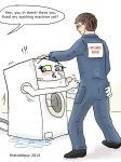 1guy 2014 appliance ass_grab blush boiler_suit caught cum facial fellatio female glasses handjob hetero human inanimate male mechaphilia oral overalls penis personification thatoddguy washing_machine wet what