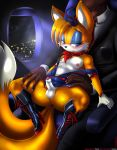 2boys black_man boots erection fox gay hat male miles_tails_prower molestation night nipples penis plane sonic_(series) tails therealshadman_(artist)