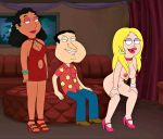 2girls american_dad family_guy francine_smith frost969 glenn_quagmire linda_memari tagme