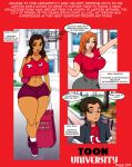 ass ben_10 big_ass big_breasts breasts clothes comic crossover disney gwen_tennyson jay-marvel lips penny_proud proud_family text toon_university wide_hips