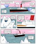 2012 comic female funny hikozarulove huge_penis humor iceberg inanimate male penis personification request rms_carpathia ship titanic