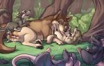 age_difference anus cum cum_inside hot incest licking mother pups sexy son_mother wolf
