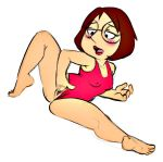 breasts family_guy fingering meg_griffin pussy swimsuit white_background