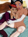 cartoonvalley.com disney doctor_facilier helg_(artist) princess_tiana stockings tagme the_princess_and_the_frog