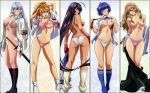 anime breasts choun_shiryu hentai ikkitousen kan'u_unchou nipples oppai panties ryomou_shimei sonken_chubou sonsaku_hakufu