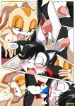 comic cream_the_rabbit cum cum_on_face cumshot hershey_n'_cream hershey_the_cat horny lesbian licking mobius_unleashed palcomix sega sex sonic sonic_(series) sonic_team squirt text underage young