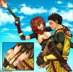 couple ieyasu_tokugawa kitsune999 red_hair saika_magoichi sengoku_basara sex