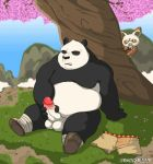 2boys anthro foreskin furry gay gif kung_fu_panda lovkuma male male_only master_shifu masturbation multiple_boys no_humans nude penis po spying testicles tree uncut voyeur yaoi