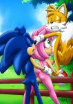 """1girl 2boys amy_rose ass blush cum cum_in_mouth cum_in_orifice cum_in_pussy cum_inside cumshot fellatio miles_""""tails""""_prower miles_prower mobius_unleashed multiple_boys oral palcomix penis pussy sega sex sonic sonic_(series) sonic_boom sonic_team sonic_the_hedgehog"""