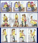 airplane ass no_panties pussy sex sex_position skirt
