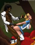 2007 alice alice_in_wonderland big_breasts breasts deuce_(artist) disney from_behind rape stockings tagme
