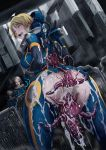 3girls ahegao alien anal ass blonde_hair blue_eyes blush bodysuit breasts butcha-u copyright_request cum cum_in_ass cum_in_pussy cum_on_ass double_penetration drooling dutch_angle erect_nipples eroquis from_behind gangbang group_sex helmet large_breasts monster multiple_girls open_mouth rape sex short_hair solo_focus spacesuit torn_bodysuit torn_clothes vaginal