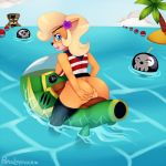bandicoot bomb boots breasts clothing cloud coco_bandicoot crash_bandicoot_(series) cute female flower furry half_naked mammal marsupial nipples pinup pirate popesslodovica pose presenting pussy sea shirt sideboob sky solo tree tropical vehicle video_games water