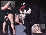 black_cat cum cum_on_ass cum_on_body cum_on_face felicia_hardy footjob marvel tentacles tongue venom