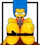 bondage breasts cum marge_simpson paizuri penis the_simpsons yellow_skin