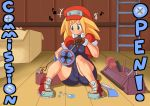 big_breasts breasts cameltoe kibazoku mega_man mega_man_legends rockman rockman_dash roll_caskett