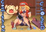 big_breasts breasts kibazoku mega_man mega_man_legends nipples pussy rockman rockman_dash roll_caskett torn_clothes