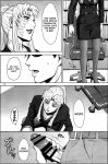 balalaika black_lagoon comic fellatio kissing kneel monochrome oral rock swallow