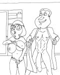 big_breasts family_guy glenn_quagmire imminent_rape meg_griffin monochrome sbb