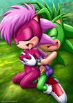 anal anal_sex blush breast_grab breasts brother_and_sister cum_in_ass cum_in_orifice cum_inside incest manic_the_hedgehog mobius_unleashed sega sex smile sonia_the_hedgehog sonic_(series) sonic_team sonic_underground tounge_out