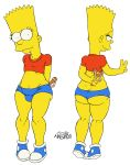 ass bart_simpson big_breasts breasts clothes femboi femboy gay happy hips josemalvado large_ass lips looking_at_viewer male round_ass slut solo testicles the_simpsons white_background whore wide_hips yellow_skin