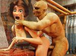 3d big_hero_6 breasts brown_hair cass_hamada disney from_behind hot milf monster rape sex short_hair tagme