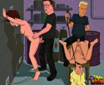 anal bondage breasts jeff_boomhauer king_of_the_hill nancy_hicks_gribble nipples peggy_hill penis pussy toon_bdsm