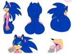 anus ass big_ass clothing cum cum_in_mouth cum_inside disembodied_penis eyelashes eyeshadow fellatio furry girly habbodude lipstick makeup male male/male multiple_images oral panties penis sega sex solo sonic_(series) sonic_the_hedgehog testicles thecon underwear wide_hips