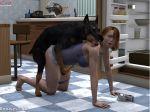 3d animal dog female nude pet sex zoo