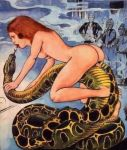 art bestiality female interspecies nude sex size_difference snake