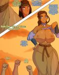 ass avatar:_the_last_airbender big_ass big_breasts breasts comic haru jay-marvel katara wide_hips