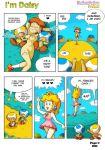 breasts i'm_daisy nintendo princess_daisy sleep super_mario_bros. toad