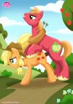 applejack big_macintosh brother_and_sister earth_pony equestria_untamed equine feral friendship_is_magic from_behind hat incest my_little_pony palcomix penis sex straight