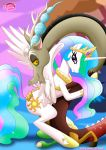alicorn discord equestria_untamed equine feral friendship_is_magic hetero my_little_pony palcomix princess_celestia sex