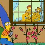 edna_krabappel homerjysimpson marge_simpson ned_flanders the_simpsons yellow_skin