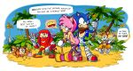 "amy_rose anthro ass beach being_watched breasts cleavage clothed clothing cum cum_inside escopeto female group hammer knuckles_the_echidna leaning mammal miles_""tails""_prower nude outside penetration seaside sex smiley sonic_(series) sonic_boom sonic_the_hedgehog sticks_the_jungle_badger text tools video_games"