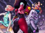 afro amethyst ass big_ass big_breasts big_lips breasts clothes darkereve_(artist) dat_ass female garnet happy hips hot lips looking_at_viewer male milf pants pearl sexy steven steven_universe wide_hips