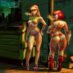 ass big_breasts daphne_blake glasses krash_(artist) nipples panties scooby-doo smoking thighs velma_dinkley