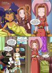 animaniacs comic crossover digimon dot_warner iris iris_(pokemon) lesbian_fantasy_island mimi_tachikawa palcomix pokemon tachikawa_mimi