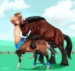 2015 2boys alternative_version_available anal_sex anatomically_correct anatomically_correct_penis animal_genitalia anthro anthro_on_feral anus ass bestiality big_eyes big_penis big_testicles black_penis blonde_hair blue_eyes bondage boy breeding brown_fur centaur cloud color cum cum_in_ass cum_inside cum_on_chest cum_on_face cum_on_leg cum_on_penis cum_string cum_while_penetrated cute draft_horse dripping duo edit ejaculation equine erection fantasy farm feathering femboy feral flare flared fur furry girly grass hair handsfree heart hooves horse horsecock huge_penis internal interspecies looking_at_viewer male male/male male_only mammal mane multiple_boys nipples no_humans nude orgasm outside penetration penis pony ranch revadiehard revadiehard_(artist) rough sex shirt_lift spread_legs spreader_bar spreading stallion sweat tail taur testicle testicles tied tied_up trap vein veiny_penis x-ray yaoi young zoophilia